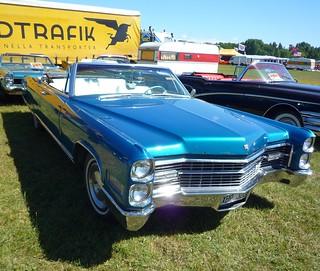 Blue Cadillac convertible