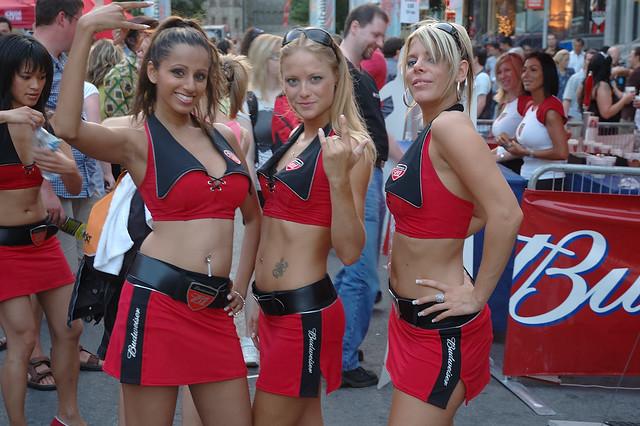 Bud Girls; F1 Grand Prix Canada Weekend 2008 on Crescent Street.