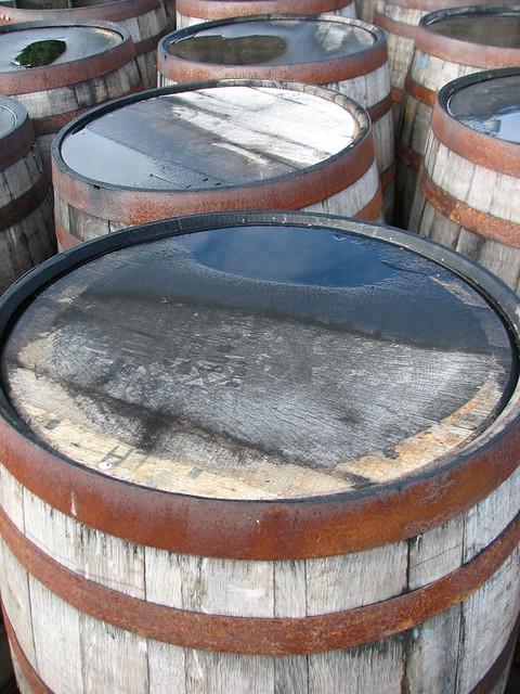 Dalmore Distillery Whisky Barrels