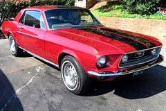 shelby mustang(0.0), automobile(1.0), automotive exterior(1.0), wheel(1.0), vehicle(1.0), ford mustang mach 1(1.0), first generation ford mustang(1.0), bumper(1.0), ford(1.0), classic car(1.0), land vehicle(1.0), muscle car(1.0), sports car(1.0),