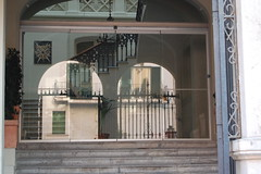 arch, window, baluster, handrail, architecture, gate, interior design, door, iron, facade, stairs, balcony,