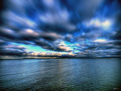 A picture of a seascape.