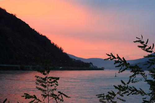 sunrise river rhein rijn bacharach rivier img3567