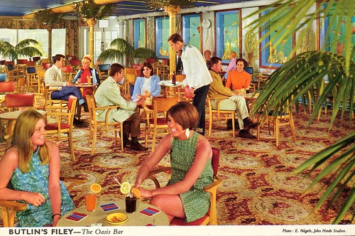 Butlins Filey - Oasis Bar (postcard, late 1960s)