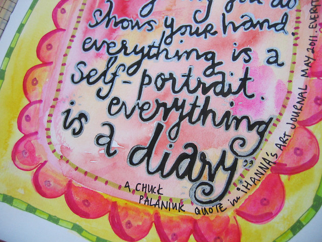 Everything is a diary - art journaling in the details