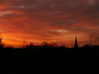 Sonnenaufgang in lauter Rausch und Traum an eines fremden Gartens Saum in Dresden 08