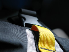 hand(0.0), glasses(0.0), arm(0.0), finger(0.0), necktie(0.0), yellow(1.0), strap(1.0), close-up(1.0), black(1.0),