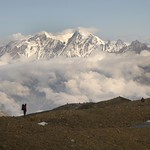 Clouds and Mountain Peaks - Annapurna Circuit, Nepal