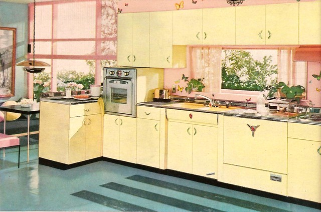 50s kitchen flickr photo sharing for Kitchen cabinets 50 style