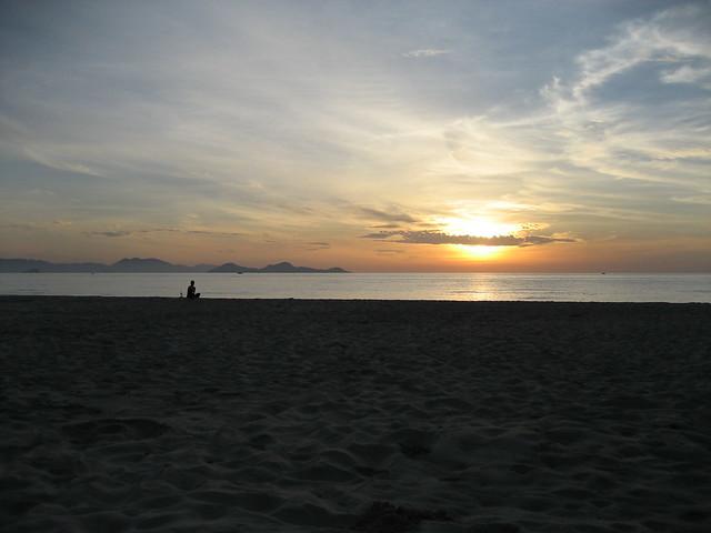 Suzie greeting the rising sun