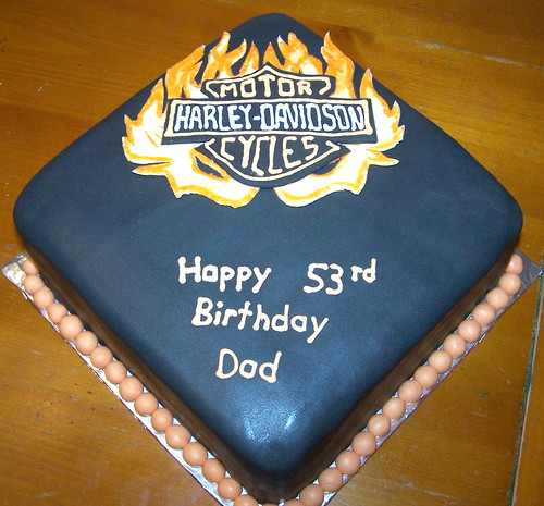 Harley Davidson cake for dad