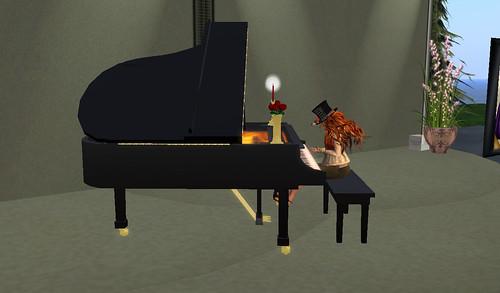 Cylindrian on piano @Fundraiser for Phoenix Psaltery  -by Jenilia Congrejo