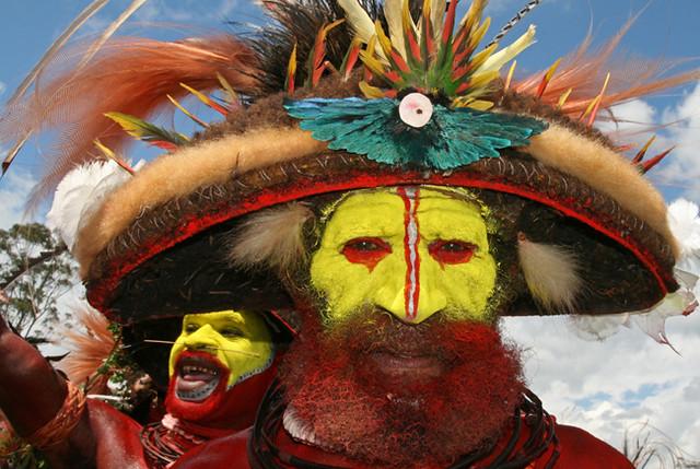 Wigmen in Mount Hagen Show
