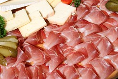 charcuterie, red meat, jamã³n serrano, prosciutto, food, dish, cuisine, cooking,