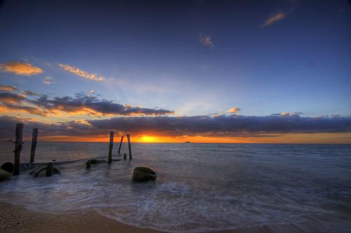 ocean longexposure sunset beach geotagged newjersey nj atlantic capemaypoint capemay hdr sunsetpoint 7xp