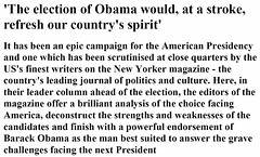 'The election of Obama would, at a stroke, refresh our country's spirit' by Renegade98