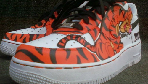 buy popular 987c7 16edf ... Nike Air Force Ones Tigger Edition  by RG  MG