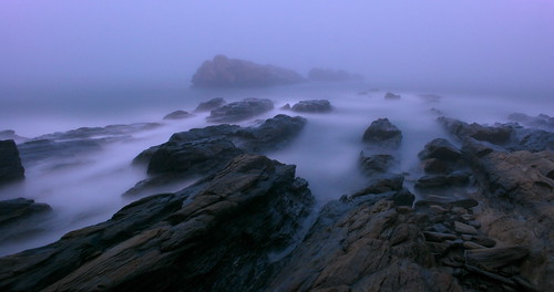 longexposure justin water fog night rocks waves atmospheric fortuitousalacrity benttinen