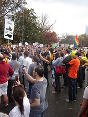 1400 people cheering outside the Executive Mansion.