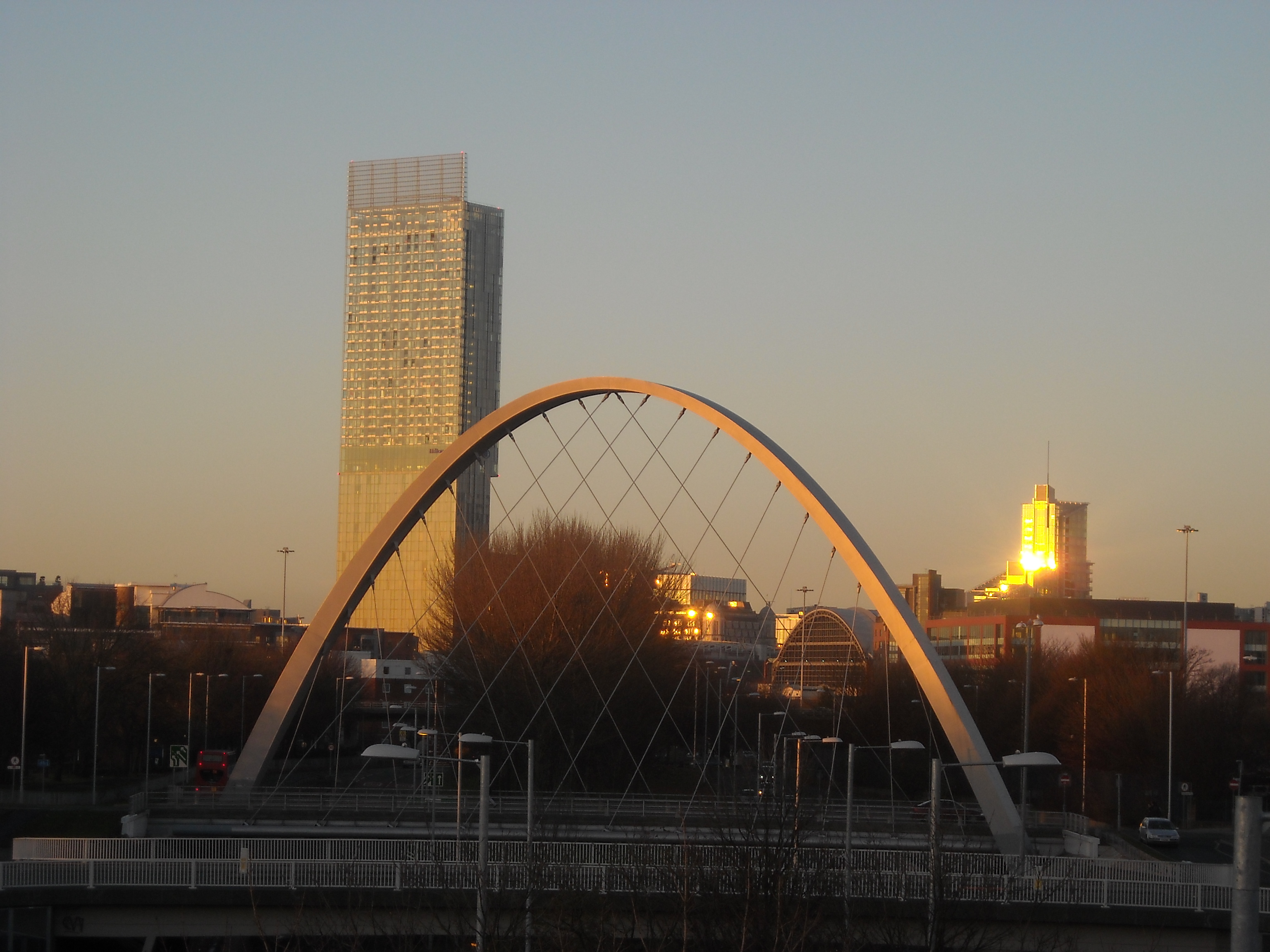 Two of Manchester's newest landmarks! Flickr Photo