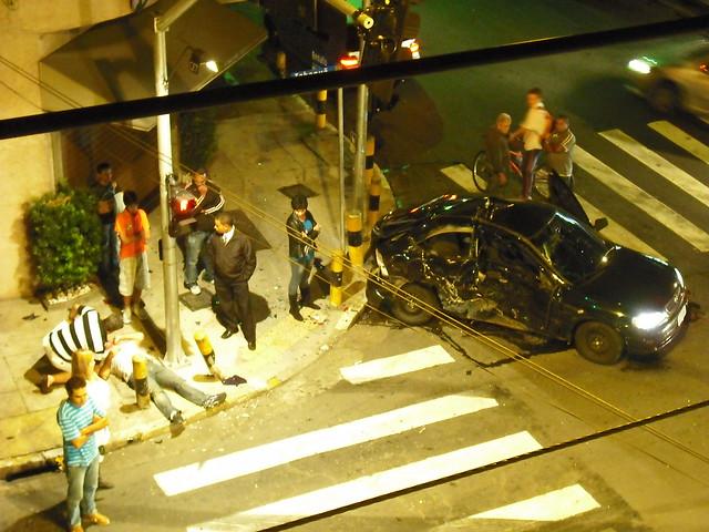 Crash Flips Car Blocks Hwy  Lane In Cotati