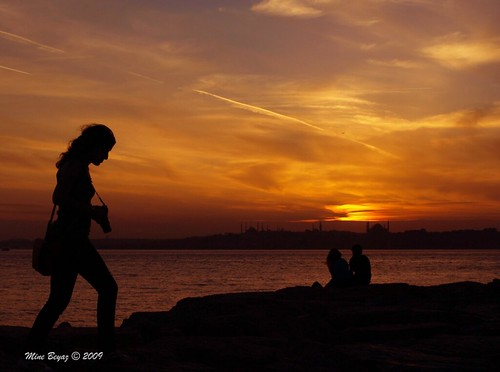 Istanbul Sunset and a Photographer