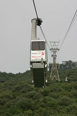 Cable car on the Rock of Gibraltar