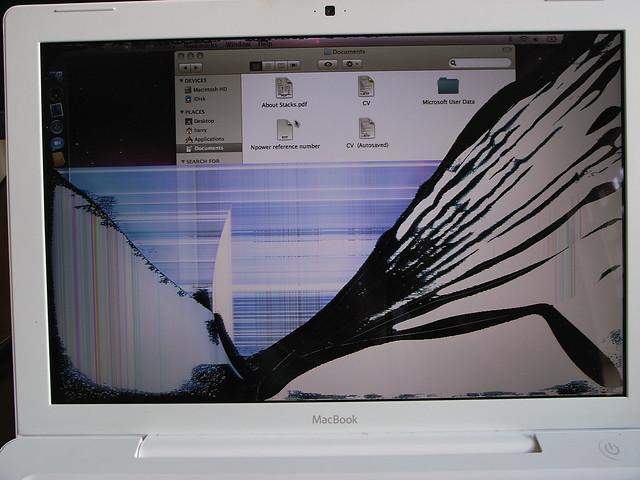 how to fix wiggly macbook screen