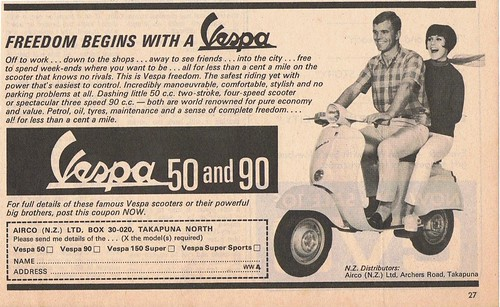 New Zealand Vespa advert