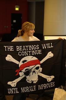 pirate beating