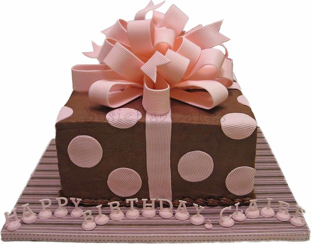 Gift cakes a gallery on flickr pink and brown gift cake august 2008 negle Images