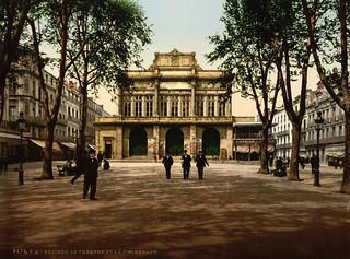 Théatre & promenade, Béziers, France, ca. 1895