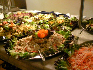 Salad buffet at Soreda Hotel in Qawra, Malta