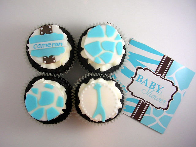blue safari baby shower cupcakes flickr photo sharing