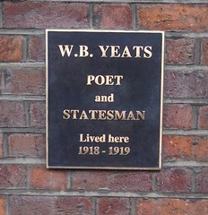 Photo of William Butler Yeats bronze plaque