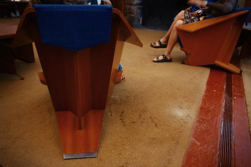 Taliesin West, Rear of Origami Chair, 2008 by Juli Kearns (Idyllopus)