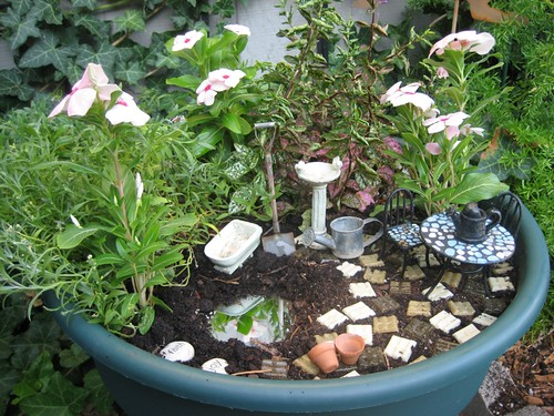 there is no place like home fairy gardens. Black Bedroom Furniture Sets. Home Design Ideas
