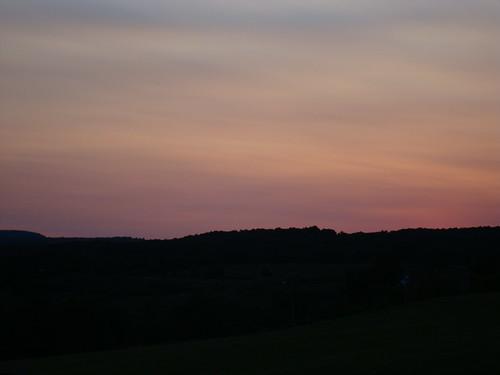 sunset sky ny newyork color dusk mountians howecarverns