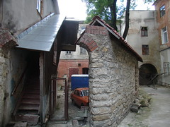 town, building, wood, house, alley,