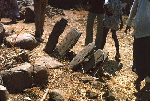 Stone seat backs, Iwol, Southeast Sénégal (West Africa)