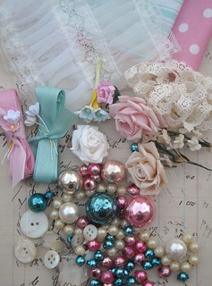 Vintage Christmas Inspiration Kit - Aqua and Pink