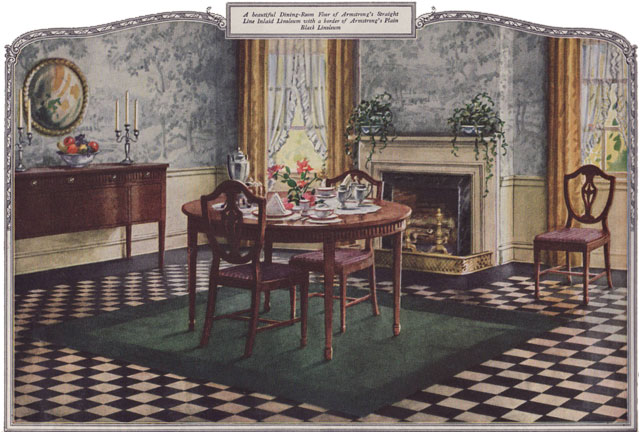1924 Dining Room   Armstrong Linoleum