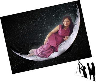 """Lady on the Moon"""
