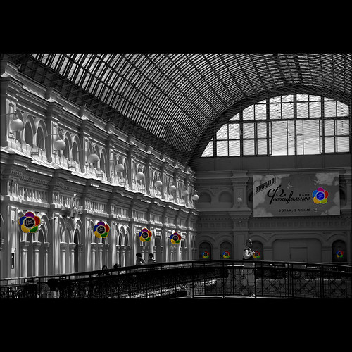 travel flowers bw architecture gum nikon d70 russia moscow selectivecolours