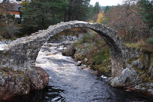 The old packhorse bridge at Carrbridge, Scotland