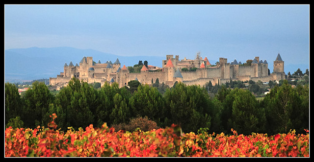 Panorama of Carcassonne's citadel