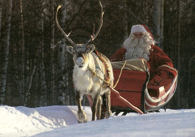 Finland — Santa & Snow-nosed Raindeer :-)