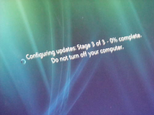 Do not turn off your computer.