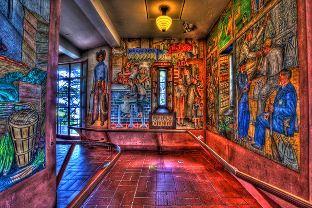 5 coit tower murals flickr photo sharing for Coit tower mural