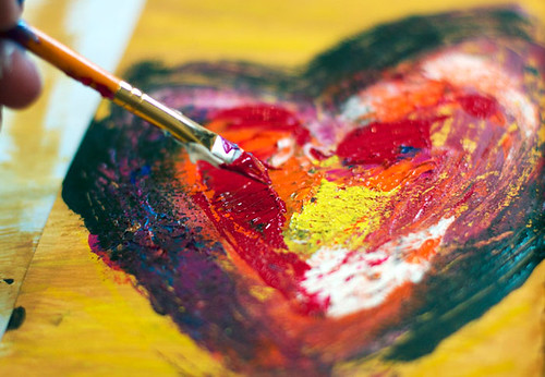 painted heart page